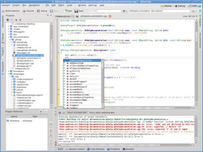 KDevelop 4 0 com suporte a PHP