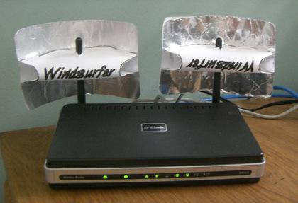 Melhore o sinal da sua rede sem fio selecionando um canal for Windsurfer antenna template