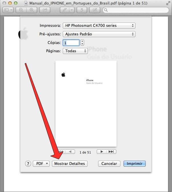como imprimir em pdf no mac