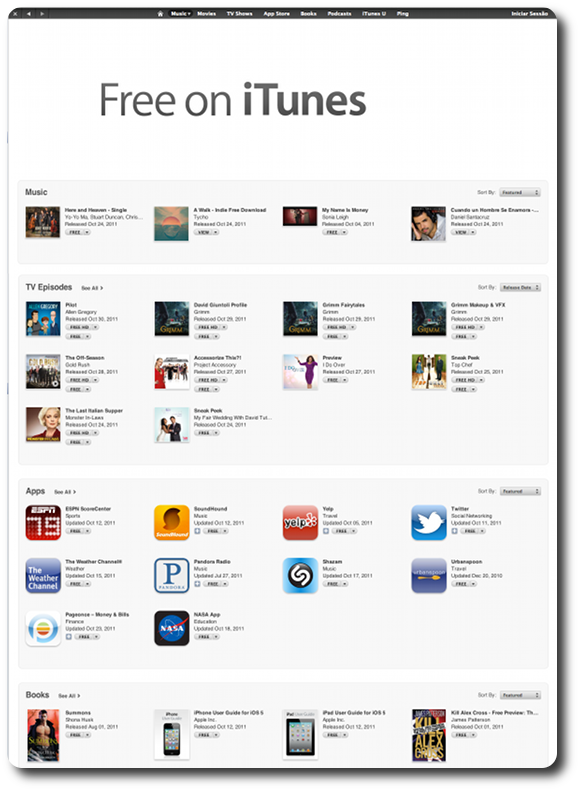 Grátis na App Store: uma URL que dá acesso a todos os itens free
