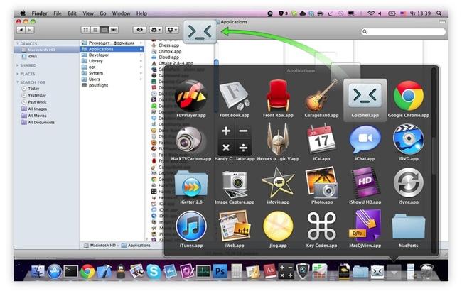Go2Shell: abra um Terminal na pasta corrente, via barra de ferramentas do Finder