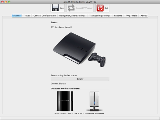 how to set up media server for ps3 mac