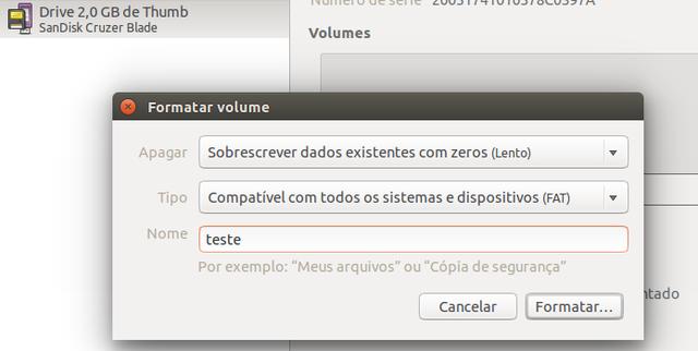 Formatando um pen drive no Ubuntu de forma segura - BR